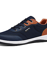 Men's Sneakers Comfort Spring Fall Tulle Casual Outdoor Lace-up Flat Heel Black Gray Blue 3in-3 3/4in