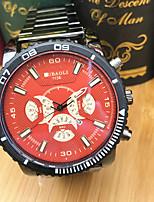 JUBAOLI Hombre Reloj Deportivo Reloj de Moda Reloj de Pulsera Chino Cuarzo Esfera Grande Acero Inoxidable Banda Cool Casual Negro