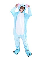 Kigurumi Pajamas Elephant Leotard/Onesie Festival/Holiday Animal Sleepwear Halloween Fashion Embroidered Flannel Fabric Cosplay With Shoes