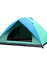2 persons Tent Double Automatic Tent One Room Camping Tent 2000-3000 mm PE Oxford Keep Warm Waterproof Sunscreen-Camping / Hiking-