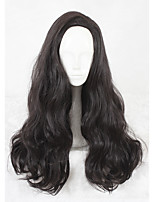 26inch Long Curly Wonder Woman Diana Prince Wig Black Synthetic Anime Cosplay Wigs CS-337A