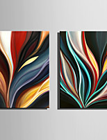 Mini Size E-HOME Oil painting Modern Abstract Flame Pure Hand Draw Frameless Decorative Painting Set of 2