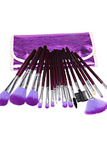 16pcs Makeup Brush Set Blush Brush Eyeshadow Brush Lip Brush Brow Brush Eyeliner Brush Eyelash Brush Sponge Applicator Foundation Brush