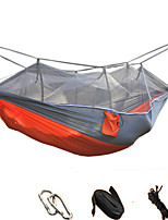 Camping Hammock with Mosquito Net Collapsible Ultra Light (UL) Anti-Mosquito Nylon for Camping Camping / Hiking / Caving Outdoor