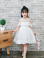 Girl's Solid Dress,Others Long Sleeve