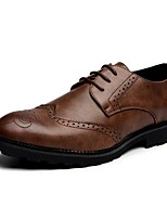 Men's Oxfords Amir's Fashion Baroque Style  Formal Shoes Leather Office & Career Brown Gray Black