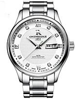 Муж. Модные часы Кварцевый Металл Группа Повседневная Серебристый металл