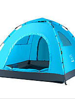 LINGNIU® 3-4 personnes Tente Unique Tente de camping Tente automatique Garder au chaud Etanche Résistant aux ultraviolets Ecran Solaire