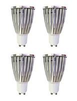 6W Spot LED MR16 1 COB 480 lm Blanc Chaud Blanc Intensité Réglable 110-120 V 4 pièces GU10