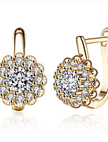 Women's Clip Earrings Cubic Zirconia RhinestoneHeart Movie Jewelry Euramerican Fashion Personalized Hypoallergenic Luxury USA British
