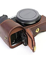 Dengpin Leather Half Camera Case Bag Cover Base for Sony ILCE-6500 A6500  (Assorted Colors)