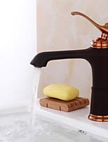 Set de centre Soupape céramique 1 trou for  Bronze huilé , Robinet lavabo