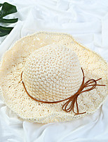 Women's Straw Straw Hat Sun Hat,Simple Casual Fashion Solid All Seasons Pure Color Bow