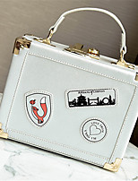 Women Bags All Seasons PU Shoulder Bag with for Casual White Black Silver Red