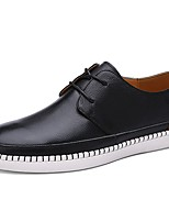 Men's Oxfords Light Soles PU Spring Fall Athletic Lace-up Flat Heel Dark Brown Light Brown Black Flat