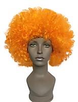 Fãs explosivos cabeça peruca laranja dança casamento festa vestido desempenho adereços peruca engraçado fofo funny clown wig cap