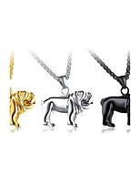 Муж. Ожерелья с подвесками В форме животных Собака Титановая сталь Мода По заказу покупателя Хип-хоп Классика Металлик Бижутерия
