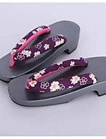 Women's Clogs & Mules Clogs Spring Fall Cotton Fabric Casual Black Under 1in