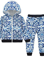 Boys' Print Sets,Cotton Polyester Spring Fall Long Sleeve Clothing Set
