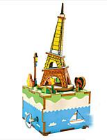 DIY KIT Music Box Toys Tower Horse Carousel DIY Furnishing Articles Children's 1 Pieces