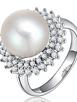 Settings Ring Band Ring  Luxury Women's Euramerican Fashion Silver Pearl Style Ring Birthday Wedding Movie Gift Jewelry