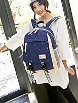 Women Bags All Seasons Canvas Backpack with for Casual Blue