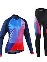 Arsuxeo Maillot et Cuissard Long de Cyclisme Femme Vélo Ensemble de Vêtements Séchage rapide Diminue Irritation Spandex Polyester