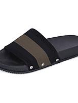 Women's Slippers & Flip-Flops Comfort Light Soles Spring Summer PU Casual Split Joint Flat Heel Black 1in-1 3/4in