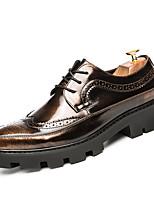 Da uomo scarpe da sposa Suole leggere Scarpe formali Vernice Estate Autunno Serata e festa Lacci Nero Nero e Oro 2,5 - 4,5 cm