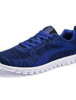 Men's Sneakers Light Soles Spring Fall Knit Casual Outdoor Lace-up Flat Heel Black Dark Blue Light Blue Flat