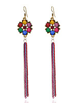 Women's Earrings Set Basic Tassel Vintage Personalized Hypoallergenic Rhinestone Alloy Jewelry For Gift Evening Party Stage Club Street