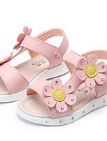Girls' Sandals Comfort Summer PU Casual Blushing Pink Purple White Flat