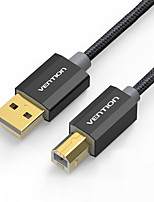 USB 2.0 Câble, USB 2.0 to USB Type B Câble Male - Male 3.0M (10Ft)