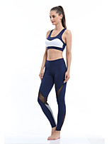 Yoga Tights Fast Dry Wearable High Elasticity Breathability High Elasticity Sports Wear Women'sYoga Running/Jogging Pilates Exercise