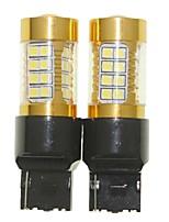 Sencart 2pcs 7440 w21w w3x16d bulbo que destellaba llevado de la cola del coche gira las lámparas reversas de la bombilla (blanco / rojo /