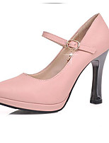 Women's Heels Comfort Summer PU Casual Blushing Pink 1in-1 3/4in