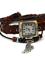 Жен. Модные часы Кварцевый Кожа Группа Коричневый