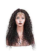 жен. Парики из натуральных волос на кружевной основе Натуральные волосы Лента спереди Бесклеевая кружевная лента 130% плотность Лёгкие