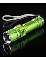 LED Flashlights/Torch LED Lumens Manual Mode USB Mini Style Mini Cycling/Bike
