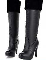Women's Shoes PU Fall Comfort Boots For Casual White Black