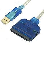 USB 2.0 Cabo adaptador, USB 2.0 to SATA II Cabo adaptador Macho-Fêmea 0.8m (2.6Ft)