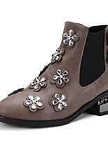 Для женщин Ботинки Оригинальная обувь Ботильоны Дерматин Осень Зима Свадьба Повседневные Для праздника Для вечеринки / ужина СтразыНа