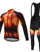 Maillot de Ciclismo con Mallas Bib Hombre No Especificado Manga Larga Bicicleta Camiseta/Maillot Medias/Mallas Largas Pecheros/Mallas