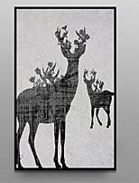 абстракция Масляная картина в раме Предметы искусства,Полистирен материал с рамкой For Украшение дома Предметы искусства в рамкахГостиная