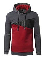 Men's Casual Cortical Splicing Of Fashion Punk Spring And Autumn Winter Cotton Long Sleeve Cap Is Suitable For Outdoor Sports Hoodies