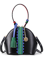 Women Bags All Seasons PU Tote with Tassel Split Joint Chain for Wedding Event/Party Casual Formal Office & Career Black