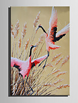 Mini Size E-HOME Oil painting Modern The Frolicking Red-Crowned Crane Pure Hand Draw Frameless Decorative Painting