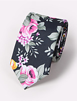 Men's Business Casual 6CM Flower Printing Fashion Narrow Tie