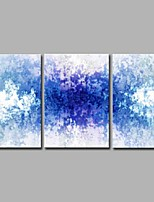 Handgemalte Abstrakt Künstlerisch Abstrakt Modern/Zeitgenössisch Büro/Geschäftlich Halloween Weihnachten Neujahr Drei Paneele Leinwand
