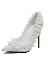 Women's Wedding Shoes Basic Pump Flower Girl Shoes Lace Microfibre Customized Materials Spring Fall Wedding Party & Evening Dress